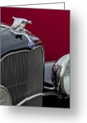 Ford V8 Greeting Cards - 1932 Ford V8 Grille Greeting Card by Jill Reger