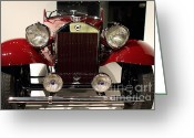 Imports Greeting Cards - 1932 Lancia Dilambda Tourer - 7D17207 Greeting Card by Wingsdomain Art and Photography