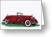 Most Greeting Cards - 1933 Cadillac Convert Victoria Greeting Card by Jack Pumphrey