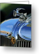 Car Mascot Greeting Cards - 1933 Chrysler Imperial Hood Ornament 3 Greeting Card by Jill Reger