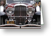 Churchill Downs Greeting Cards - 1933 Duesenberg Model J - D008167 Greeting Card by Daniel Dempster