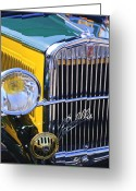Classic Fiat Greeting Cards - 1933 Fiat Balilla Grille Greeting Card by Jill Reger