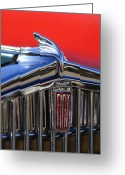 Classic Fiat Greeting Cards - 1933 Fiat Balilla Hood Ornament Greeting Card by Jill Reger