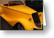 Racecars Greeting Cards - 1933 Ford Roadster - 7D17183 Greeting Card by Wingsdomain Art and Photography