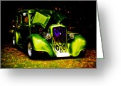 D700 Greeting Cards - 1933 Plymouth Hot Rod Greeting Card by Phil