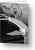  Collector Hood Ornaments Greeting Cards - 1933 Pontiac Hood Ornament 4 Greeting Card by Jill Reger