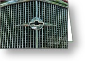Classic Auto Greeting Cards - 1934 Chevrolet Grill  Greeting Card by Paul Ward