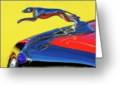 Car Mascot Greeting Cards - 1934 Ford Hood Ornament Greeting Card by Jill Reger