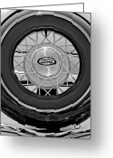 Ford Roadster Greeting Cards - 1934 Ford Roadster Spare Tire 2 Greeting Card by Jill Reger