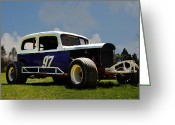 Racer Digital Art Greeting Cards - 1934 Ford Stock Car Greeting Card by Bill Cannon