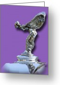 Mascots Digital Art Greeting Cards - 1934 Rolls Royce Spirit Mascot Greeting Card by Jack Pumphrey