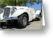 Hotrod Photo Greeting Cards - 1935 Auburn 851 BoatTail Speedster Greeting Card by Al Bourassa