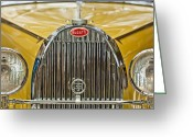 Roadster Greeting Cards - 1935 Bugatti Type 57 Roadster Grille Greeting Card by Jill Reger