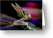 Car Mascot Greeting Cards - 1935 Chevrolet Hood Ornament 2 Greeting Card by Jill Reger