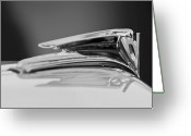 Ford V8 Greeting Cards - 1935 Ford V8 Hood Ornament 4 Greeting Card by Jill Reger