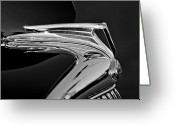 Ford V8 Greeting Cards - 1935 Ford V8 Hood Ornament 5 Greeting Card by Jill Reger