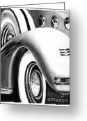 Hot Rod Drawings Greeting Cards - 1935 LaSalle Abstract Greeting Card by Peter Piatt