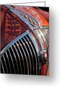 Car Mascot Greeting Cards - 1935 Plymouth Hood Ornament Greeting Card by Jill Reger