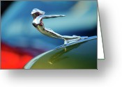 Mascots Greeting Cards - 1936 Cadillac Hood Ornament 2 Greeting Card by Jill Reger