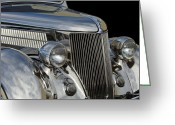 Stainless Steel Greeting Cards - 1936 Ford - Stainless Steel Body Greeting Card by Jill Reger