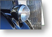 Chrome Grill Greeting Cards - 1936 Ford 2DR Sedan Greeting Card by Gwyn Newcombe