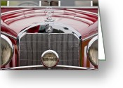 Roadster Greeting Cards - 1936 Mercedes-Benz 540K Mayfair Special Roadster Grille Greeting Card by Jill Reger