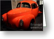 Collectors Car Greeting Cards - 1937 Airomobile . 7D17314 Greeting Card by Wingsdomain Art and Photography