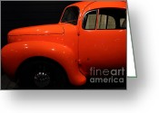Collectors Car Greeting Cards - 1937 Airomobile . 7D17315 Greeting Card by Wingsdomain Art and Photography