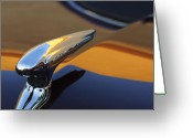 Car Mascot Greeting Cards - 1937 Ford Hood Ornament 3 Greeting Card by Jill Reger