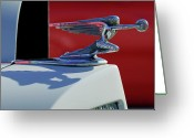 Mascots Greeting Cards - 1937 Packard 2-Door Touring Hood Ornament Greeting Card by Jill Reger