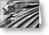 Graphite Greeting Cards - 1937 Pontiac Chieftain Abstract Greeting Card by Peter Piatt