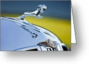 Dodge Greeting Cards - 1938 Dodge Ram Hood Ornament Greeting Card by Jill Reger