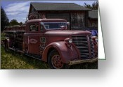 Firetruck Greeting Cards - 1939 American LaFrance Foamite Greeting Card by Tom Gort
