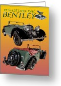 Mascots Digital Art Greeting Cards - 1939 Bentley Drop Head Coupe Greeting Card by Jack Pumphrey