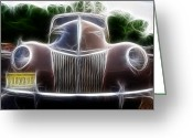 Chrome Grill Greeting Cards - 1939 Ford Deluxe Greeting Card by Paul Ward