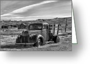 Stake Greeting Cards - 1939 Ford Truck Bodie CA Greeting Card by Troy Montemayor