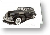 90s Greeting Cards - 1939 LaSalle Classic Greeting Card by Jack Pumphrey