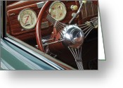 Professional Greeting Cards - 1940 Chevrolet Steering Wheel Greeting Card by Jill Reger