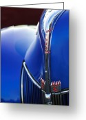 Ford V8 Greeting Cards - 1940 Ford V8 Hood Ornament 3 Greeting Card by Jill Reger