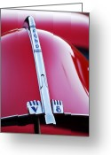 Ford V8 Greeting Cards - 1940 Ford V8 Hood Ornament Greeting Card by Jill Reger