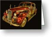 Car Photographs Greeting Cards - 1940 Packard 120 Coupe Greeting Card by Ken Smith