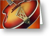 Guitar Greeting Cards - 1940s D Angelico New Yorker Cuitar Greeting Card by Garry McMichael