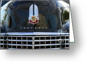 Chrome Grill Greeting Cards - 1941 Cadillac grill Greeting Card by Paul Ward