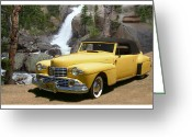 The Classic Greeting Cards - 1946 Lincoln Continental Divide Greeting Card by Jack Pumphrey