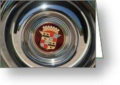 1947 Cadillac Greeting Cards - 1947 Cadillac Emblem 2 Greeting Card by Jill Reger