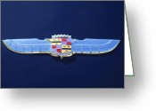 1947 Cadillac Greeting Cards - 1947 Cadillac Emblem 3 Greeting Card by Jill Reger