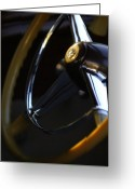 1947 Cadillac Greeting Cards - 1947 Cadillac Model 62 Coupe Steering Wheel Greeting Card by Jill Reger