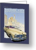 1947 Cadillac Greeting Cards - 1947 Cadillac Model 62 Series Convertible Greeting Card by Roger Beltz