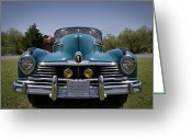 Shine Greeting Cards - 1947 Hudson Commodore Greeting Card by Debra and Dave Vanderlaan