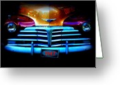 Dana Oliver Greeting Cards - 1947 Police Car Greeting Card by Dana  Oliver